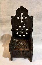 Fauteuil coffre breton mobilier miniature poupée