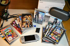 Sony PSP Slim 2000 Silber / Limited FF Edition / inkl. 14 Spiele / Guter Zustand