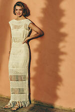 Anthropologie Fringed Crochet Maxi Dress  by Callahan NWT XS, S