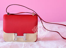 NEW HERMES ROUGE CASAQUE RED MM 23 24 CONSTANCE EPSOM BAG MESSENGER BIRKIN KELLY