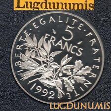 BE - 5 Francs Semeuse 1992 FDC 4 938 Exemplaires Provenant du Coffret BE