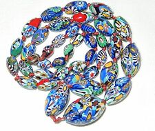 ART DECO VENETIAN MURANO MILLEFIORI GLASS BEAD NECKLACE