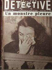 Détective n°396 (1/02/1954) Denise Buttin- L'acte II/Opération Loup-Abbé Pierre