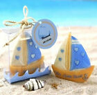 FD2770 Lucky Sailing Boat Candle With Box For Wedding X'mas Home Decor Gift ♫