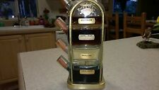 Vintage Garnier 4 Bottle Brass Decanter 3 of 4 unopened and all labels intact