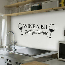 AGYWine A Bit Vinyl Wall Art Wall Quote Sticker Dinning Kitchen Removable Decals