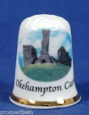 Okehampton Castle, Devon 'Exclusive' China Thimble B/54