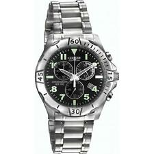 SPECIAL Mens Citizen AT0750-55F EcoDrive Stainless Steel Chrono Sports RRP £250