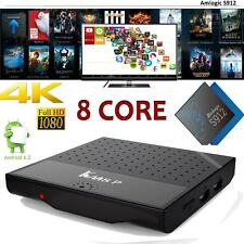 KM8P S912 Octa Core 2Ghz Smart Android 6.0 TV Box 4K VP9 3D WiFi Media Player