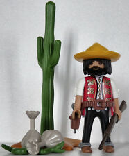Playmobil western - cowboy - bandit - desperado - mexicain #466 - custom