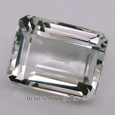 DIAMOND QUARTZ 8x6 MM EMERALD CUT  ALL NATURAL AAA 2 PC SET