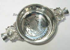 "SOLID PEWTER HIGHLAND QUAICH SCOTTISH  ""SLAINTE MHATH""  ENGRAVED MADE IN THE UK"