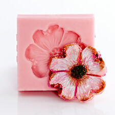 Dogwood flower silicone mold, polymer clay, fondant, resin, food safe mold (502)