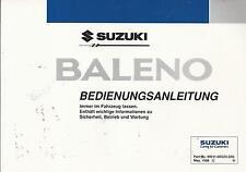 SUZUKI    BALENO    Betriebsanleitung  1998  Bedienungsanleitung   Bordbuch   BA