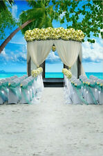 6x9ft Beach Wedding Stage Photography Background Vinyl Photo Studio Backdrops
