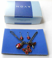 AVON SUMMER FRIENDS GIFT SET LADY BUG BUTTERFLY DRAGONFLY 2002 NOS