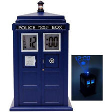 Dr Who - Tardis Shaped Projection Alarm Clock - New & Official BBC In Box