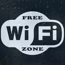 Free Wi Fi Sign Decal Vinyl Sticker Window Shops Pubs Hotels Cafes Offices Bars