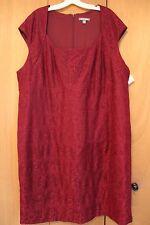 Dress - Dressbarn - Burgundy Lace Overlay - Size 24W NEW NWT 24 Wedding Mother