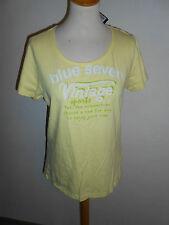 110 57 BLUE SEVEN Damen Shirt Gr. 44 gelb grün Aufdruck kurzarm NEU + ETIKETT