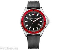 Tommy Hilfiger Watch, Men's Black Silicone Bracelet 1790791