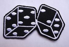 dice patch badge hot rod rockabilly motorcycle biker chopper tattoo lucky 7