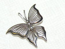 Antique Sterling Silver 925 Moving Mechanical Butterfly Wings Brooch 6.2 Grams