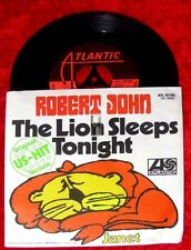 Single Robert John The Lion sleeps tonight 1972