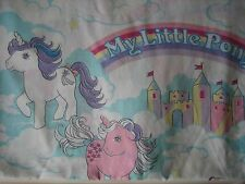 VINTAGE 1984 MY LITTLE PONY TWIN FLAT SHEET BEDDING ANTIQUE