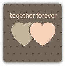 "Hearts Forever Together Valentine's Day Car Bumper Sticker Decal 5"" x 5"""