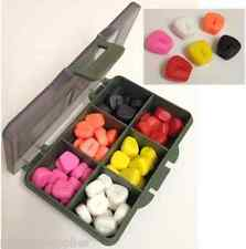 FAKE POP UP CORN WITH STOP SLOT CARP FISHING - 60 PIECES 6 COLOURS IN BIT BOX
