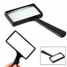 5X Rectangular Handheld Magnifier Magnifying Glass Loupe For Reading Jewelry Hot