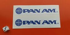 X 2 PAN AM AIRLINE STICKERS 150MM X 27MM 7-10 YEAR VINYL