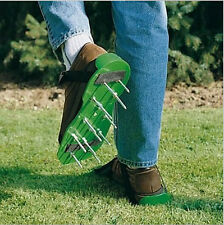 Grass Lawn Sod Walking Aerator Spike Strap Shoes Sandal Revitalizing Garden Tool