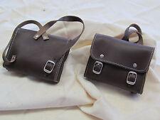 Accesorios de muñecas muñecas maleta knabenform cuero genuino. color marrón. a mano.