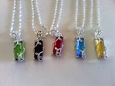 925 STERLING SILVER GEMSTONE PENDANTS WITH CHAIN  (YOU CHOOSE STONE)