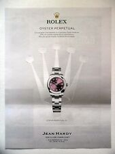 PUBLICITE-ADVERTISING :  ROLEX Oyster Perpetual 31  2016 Montres,Jean Hardy