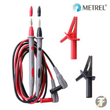 Metrel MMLS1A Test Lead Set w/ Probes & Croc Clips for Multimeters/Clamp Meters