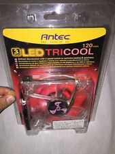 Antec 120mm Red LED Tricool 3-Speed Fan-BRAND NEW & FACTORY SEALED!