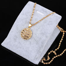 Fashion Jewelry 24K gold Yellow Filled Plated Disco hemisphere Pendant Chain