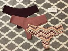 3x XS Victoria's Secret PINK Lace Back No Show Thong Panty Lot Set Multi Pur Beg