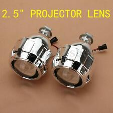 "Pair 2.5"" Mini Bi-Xenon HID Projector Kit Lens Car Hi/Lo Headlights Shroud H1"
