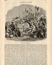 MARIONETTES CHINOISES CHINESE PUPPETS THEATRE MECANIQUE PRESS ARTICLE 1847 PRINT