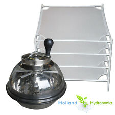Manual Leaf Trimmer & 4x STACKABLE MESH DRY RACK for Hydroponics Indoor Plants