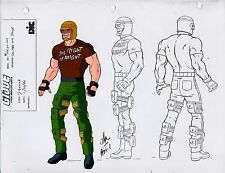 G.I. GI Joe Salvo Model Cel Art 80-90's Cartoon 1990 Dic Animation City