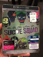 Suicide Squad 4K UHD 2 Disc Blu-Ray Steelbook Digital HD New Sealed Extended Ed.