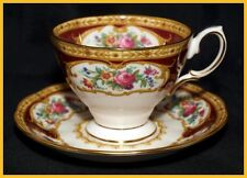 Royal Albert Lady Hamilton Coffee Cups & Saucers - New Unused 1st Quality