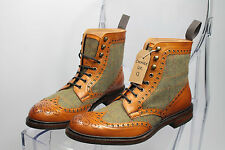 BNIB Cheaney Made In England Exmoor Herring Leather Wingcap Brogue Boots UK 13