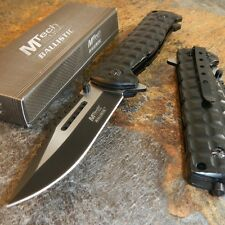 "9"" M-TECH Tactical Combat SPRING ASSISTED OPEN Black Folding POCKET KNIFE New"