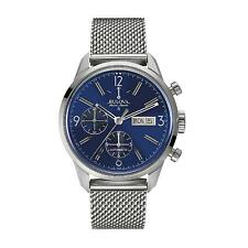 Bulova Accutron Men's 63C117 Accu Swiss Automatic Blue Dial Bracelet Watch